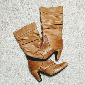 Shoes - Tan Leather Boots